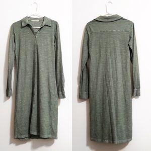 Peruvian Connection Dresses - Peruvian Connection | Long Sleeve Button Dress